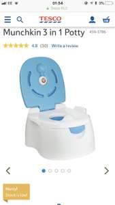 Munchkin 3 in 1 potty £6.00 in store at Tesco Stafford