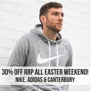 Nike, Adidas & Canterbury - Easter weekend 30% off @ Kitlocker.com