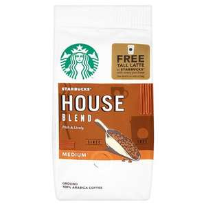 Free Tall Latte from Starbucks when you buy House Blend Ground Coffee £2.75 at Tesco