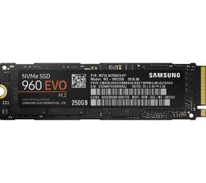 SAMSUNG 960 EVO M.2 SSD - 250 GB +Far Cry 5 standard edition @ £99.95 (Price match with Amazon in store @ Currys)