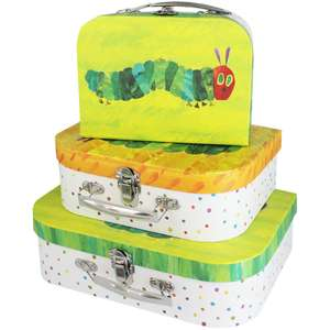 The Very Hungry Caterpillar Storage Suitcases - Set of 3 £5.60 w/code C+C @ The Works (more in OP)