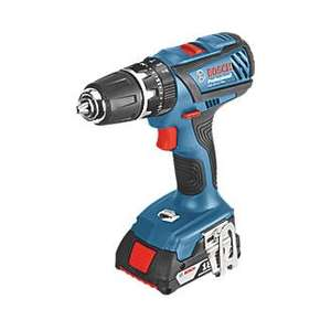 Bosch GSB 18-2-LI 18V Professional Cordless Combination Drill 2 x 2Ah batteries, charger & case £83.30 @ Wickes C&C