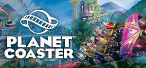 Planet Coaster 55% off on Steam (£13.49). Two DLC packs 15% off (£6.79).