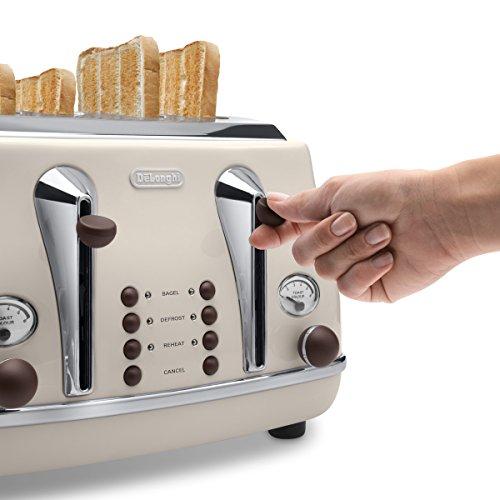 De'Longhi CTOV4003.BG Vintage Icona 4 Slice Toaster - Cream £32.99 @ Amazon
