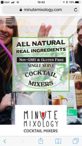 FREE cocktail mixer - FREE Minute Mixology Single