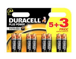 Duracell AA or AAA 5+3 free batteries £3.49 OR 12 in pack £4.99 @ Poundstretcher