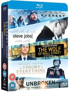 Everest/Steve Jobs/Wolf of Wall Street/Theory of Everything/Unbroken [Blu-ray] Zoom £8