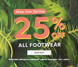 New Look 25% off all shoes (men and women)