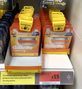Gillette Fusion 5 Razors x8 £15 instore at Sainsbury's