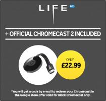 Chromecast 2 + Life HD £22.99 @ Rakuten