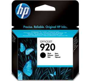 HP 920 Black Ink Cartridge 66% off at Currys for £7.18 (use code HPINK)