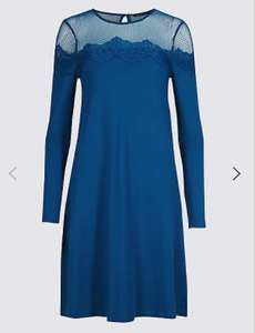 Lace yoke dress £7.59  from M&S - Free c&c