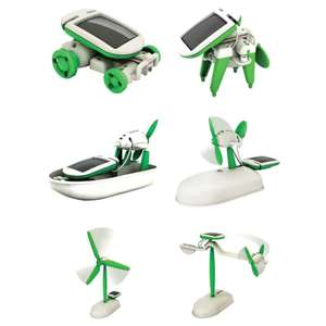 6-in-1 Solar Powered Puzzle Educational Assembly Toy Kits - Green And White £1.77 Del w/code @ RoseGal + More Offers in OP
