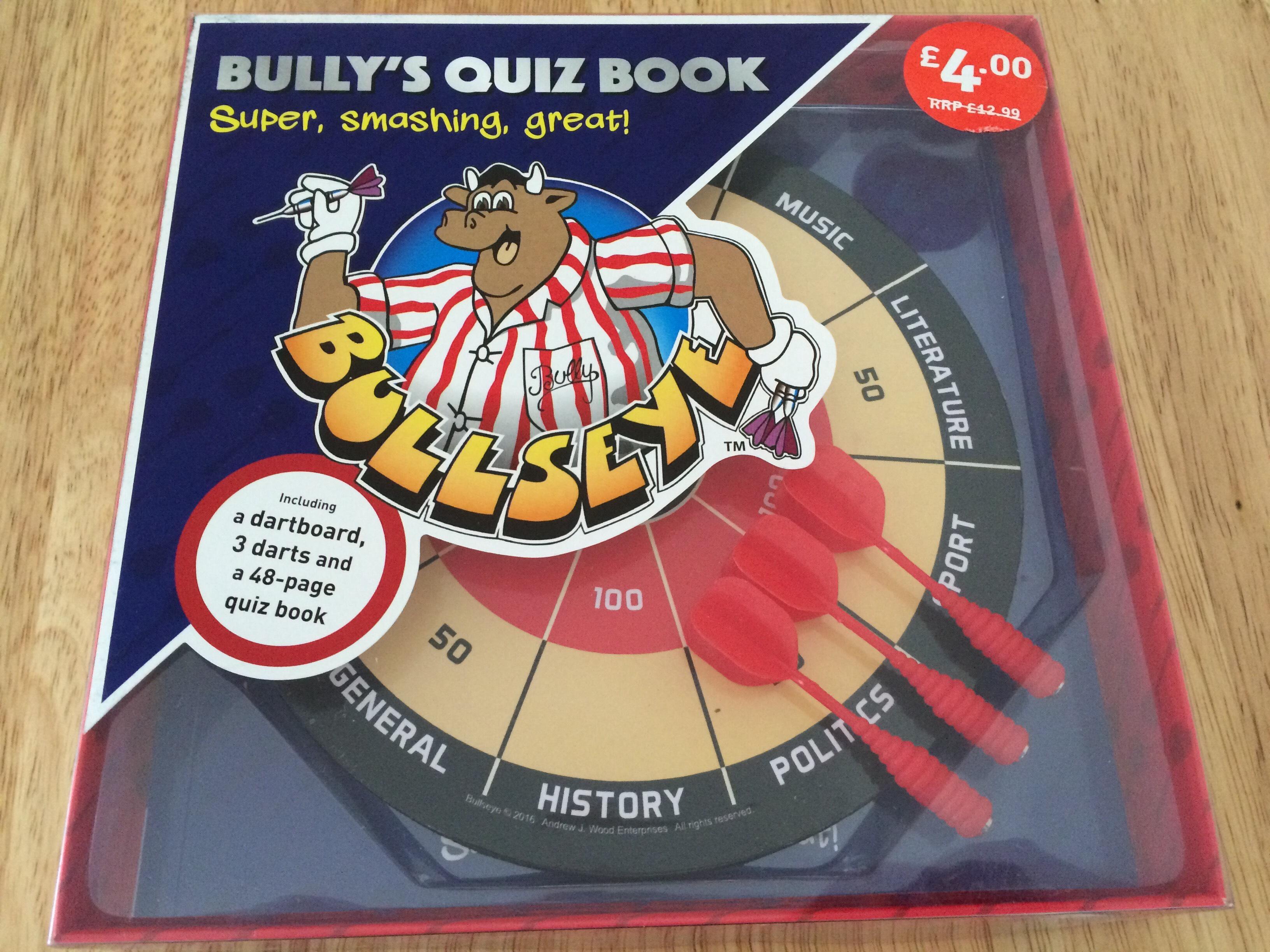 Bullseye Quiz Book £2 @ The food warehouse