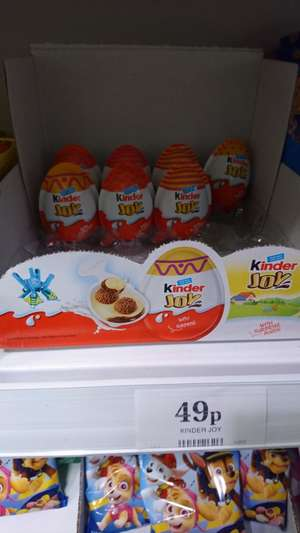 Kinder joy @ home bargains for 49p