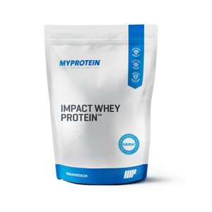 Impact Whey Protein 5KG £32.24 unflavoured / £36.37 flavoured + £2.95 del (>£50 for free del + free 1kg IWP Chocolate Smooth) @ MyProtein