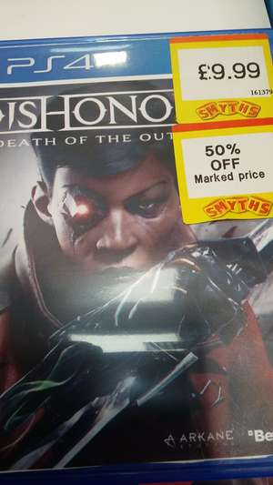 Dishonored Death of THE Outsider ps4 £4.99 @ smyths Blackpool