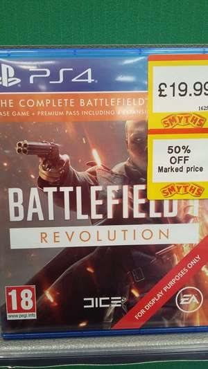 The complete battlefield 1 package for ps4 instore at Smyths for £9.99