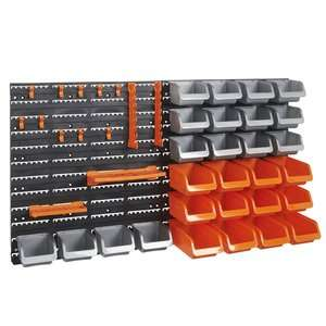 VonHaus 44pc Storage Bin & Hook Set £19.99 delivered + 2 Year Guarantee @ Domu
