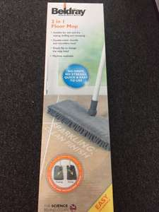 Beldray 2-in-1 Floor Mop For Easy Cleaning, Grey £1 instore @ B&M