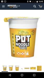 Pot Noodle Original Curry 90 g (Pack of 12) £7.20 @ Amazon prime exclusive