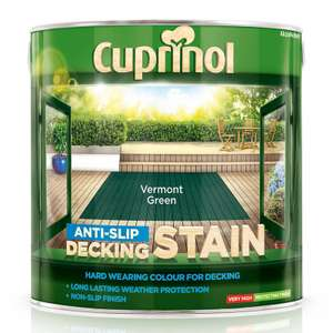 Cuprinol Decking Stain 2.5 Litre - £13.00 (9 Colours Available) @ B&M