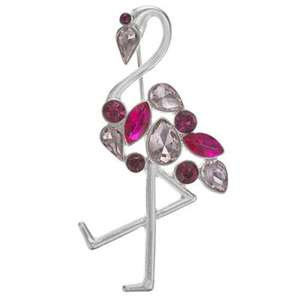 Crystal flamingo brooch £3.60 was £12 @ Debenhams, free c+c with code*