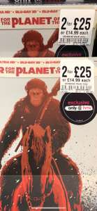 War for the planet of the apes 4k uhd Steelbook £14.99 @ hmv