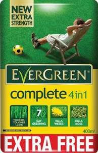 Evergreen Complete 4 in 1 Lawn Care Bag 320m2 - 12.6kg £10 @ Wickes (Instore Nationwide))