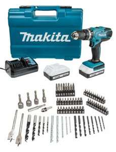 Makita drill, 2 x 1.5ah batteries and 76 piece drill set £107.95 @ Wickes