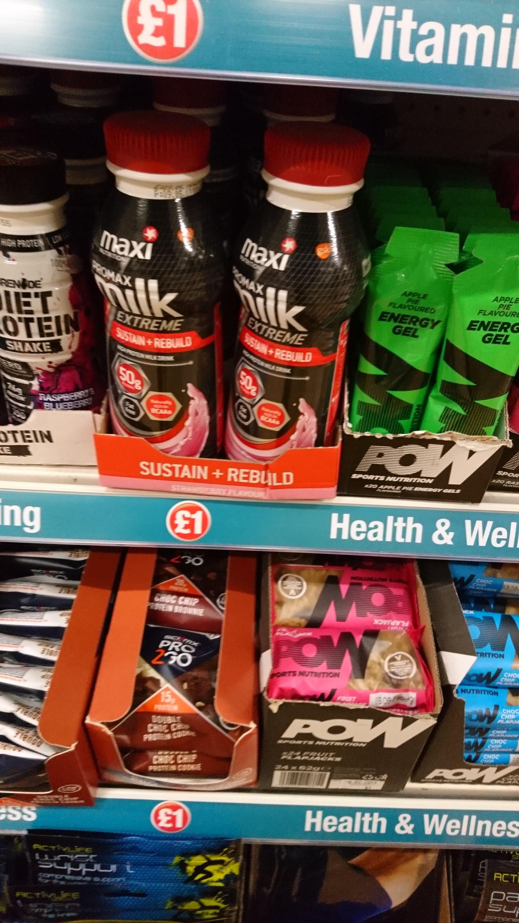 Maxi nutrition strawberry 50g of protein shake @ poundland