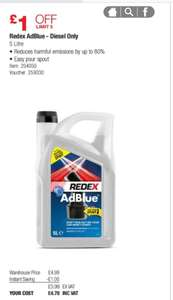 REDEX ADBLUE 5L £4.78 @ COSTCO mon 2nd April