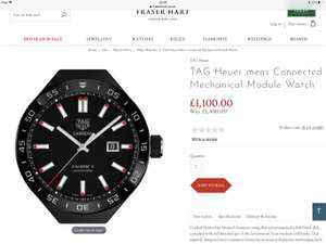 TAG Heuer mens Connected Mechanical Module Watch - £1,100 @ Fraser Hart