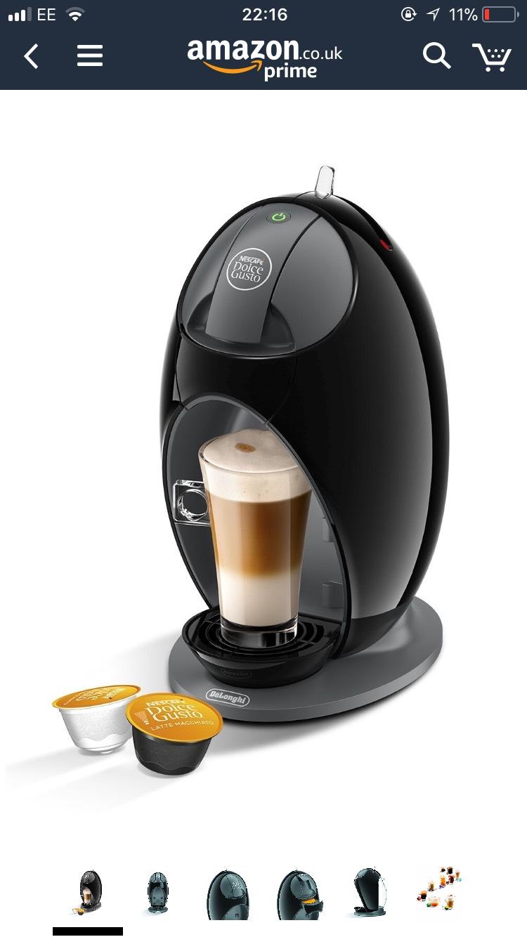 Nescafé Dolce Gusto Coffee Machine Jovia Manual Coffee by De'Longhi EDG250.B - £34.99 @ Amazon