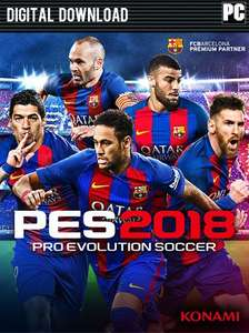 Pro Evolution Soccer (PES) 2018 - Standard Edition PC £6.99 @ CDKeys