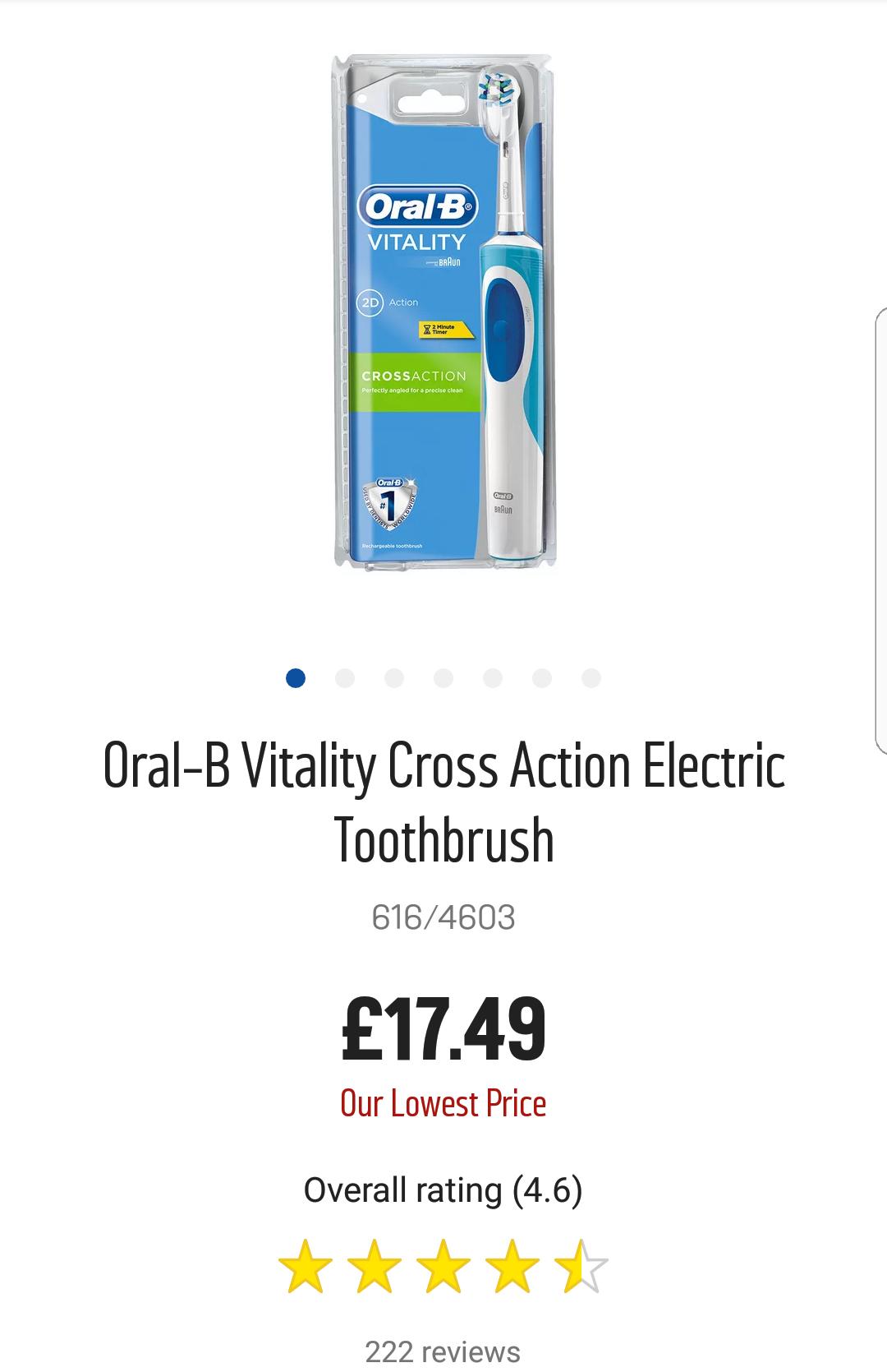 Oral B Electric Toothbrush £17.49 @ Argos