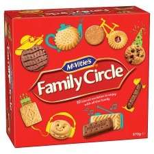 Mcvities Family Circle Biscuits 670G BOGOF at Tesco (£4 for 2)