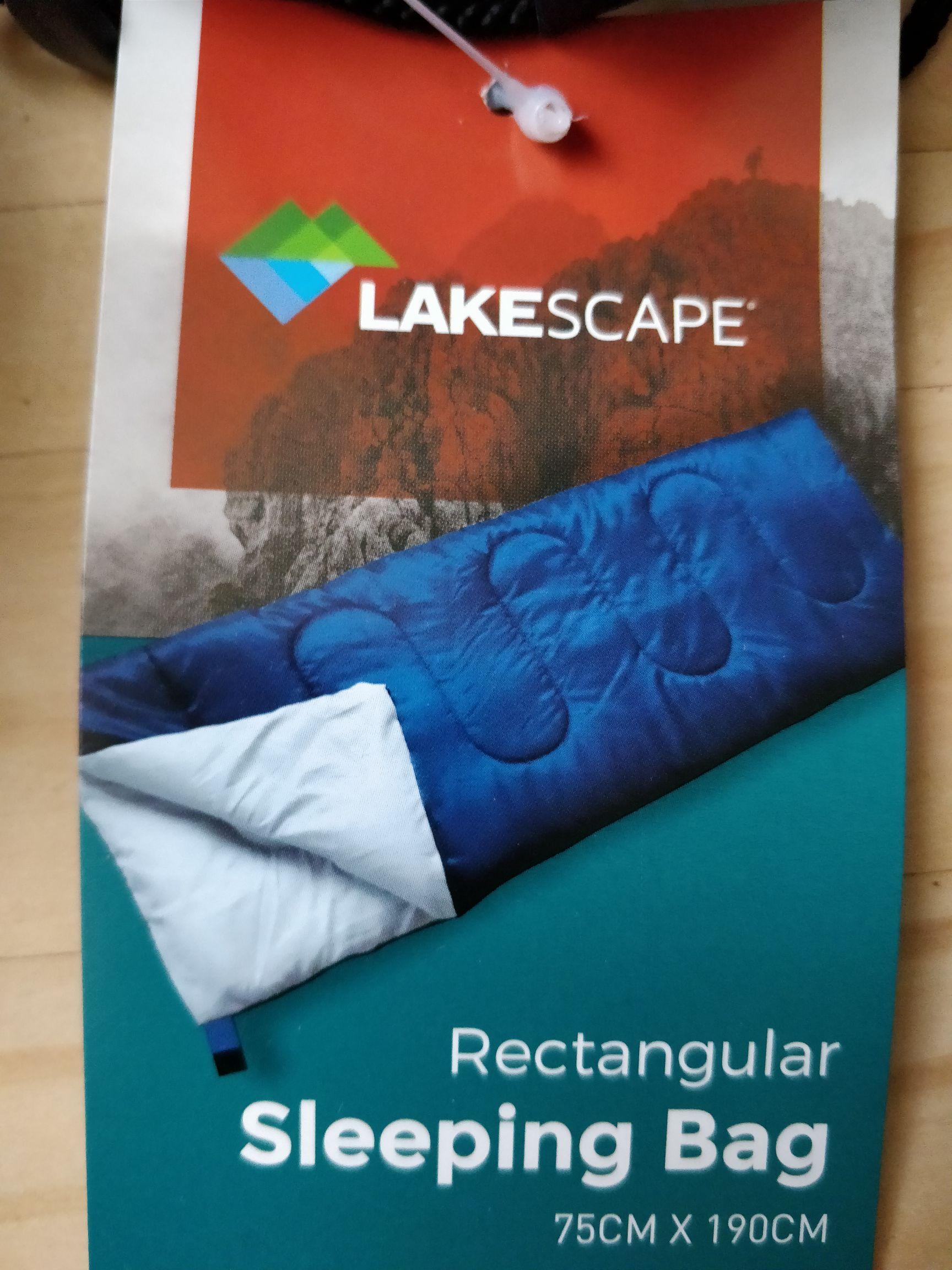 Envelope sleeping bag 250gsm - in-store Home Bargains - £6.99