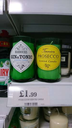Gin & Tonic and Prosecco scented candles @ home bargains - £1.99