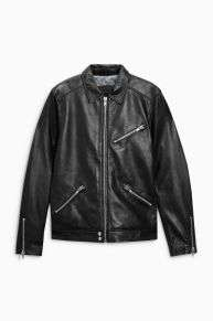 Real leather jackets from £45 at Next Clearance
