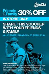 Superdry 30% off instore only