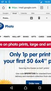 1p per Photo from Boots on first 50 prints with code