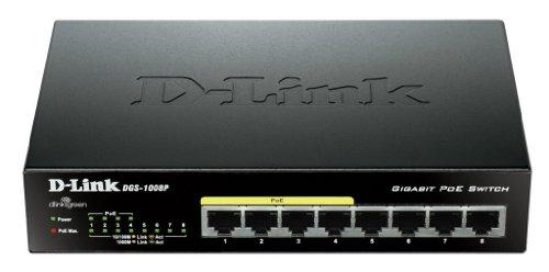 D-Link DGS-1008P Gigabit Unmanaged Desktop Switch with 4 PoE Ports £39.99 @ Amazon