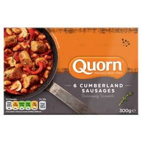 Quorn 6 Cumberland sausages 300g Reduced to £1 @ Waitrose
