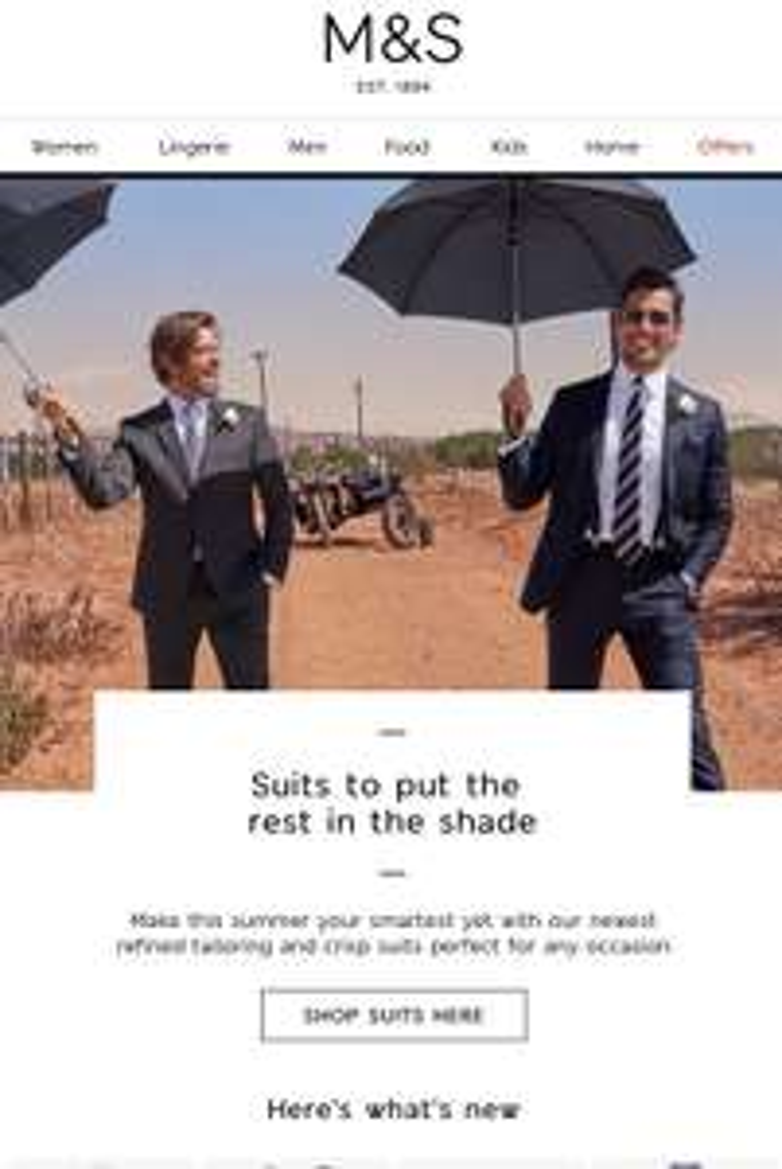 Massive discounts on M&S suits