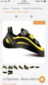 La Sportiva - Miura Velcro - £70.20 using price match @ Go Outdoors