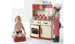 Deluxe Wooden Play Kitchen £28 @ Asda