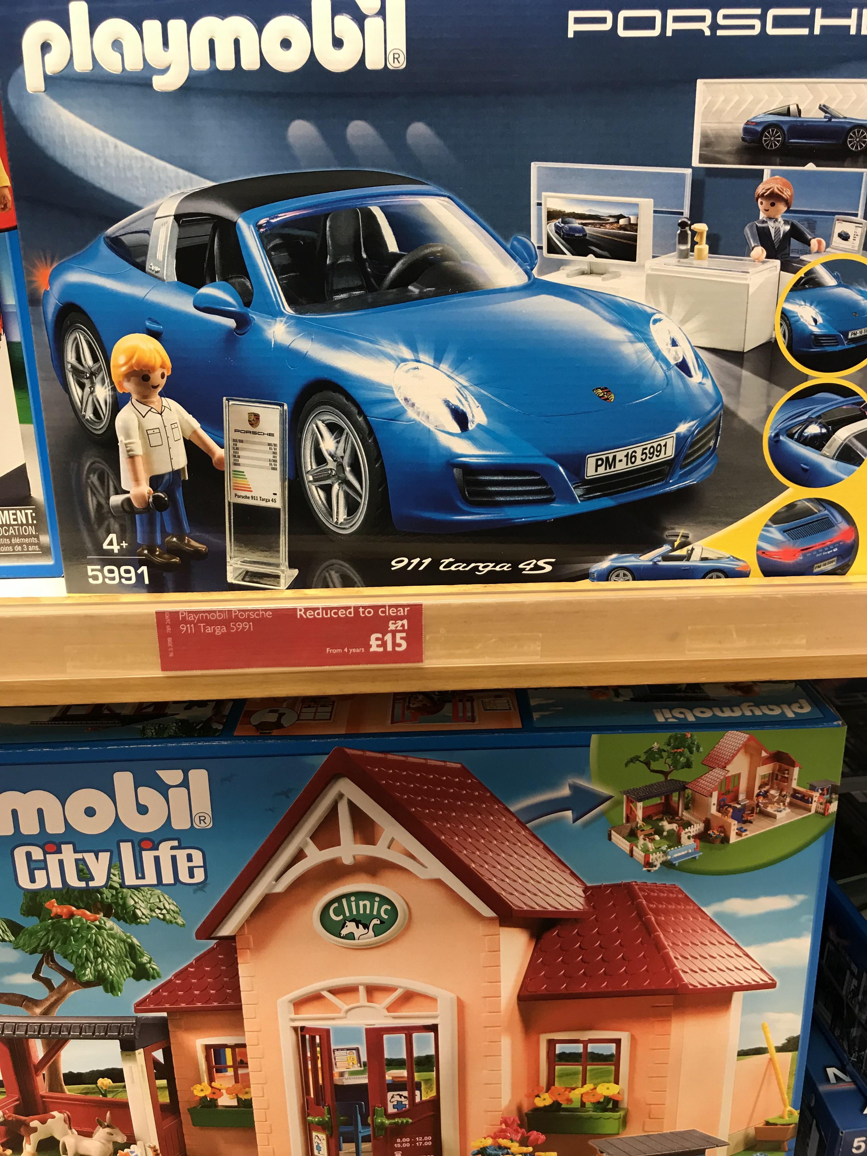 Playmobil Porsche 911 Targa (5991) £15 instore @ John Lewis (Kingston)