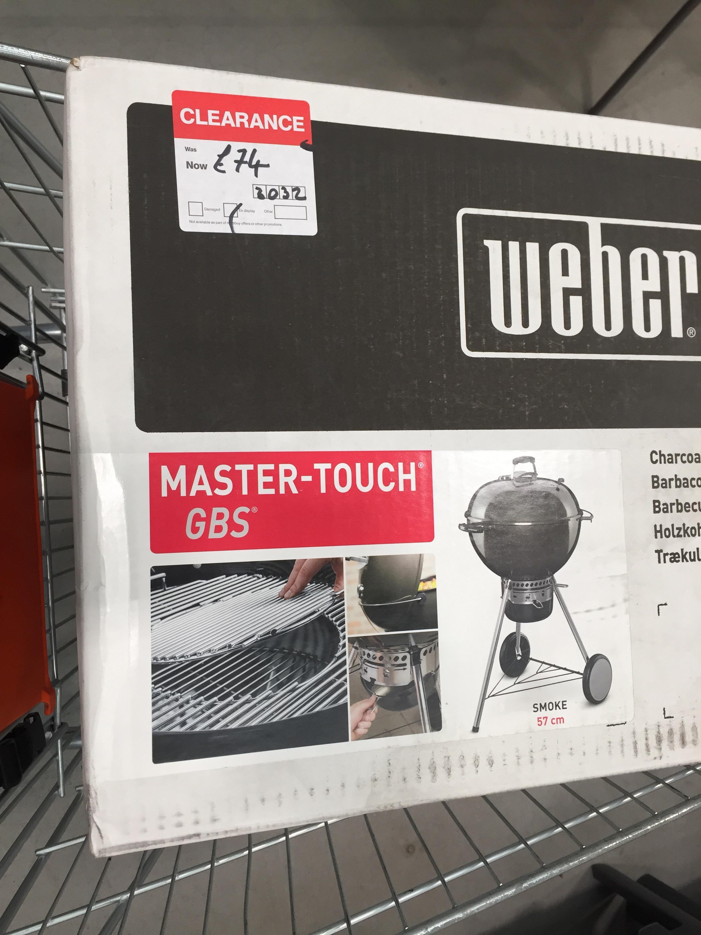 Weber master touch 57cm £74 instore @ B&Q
