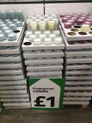 Various scented candles only £1 in-store Dunelm